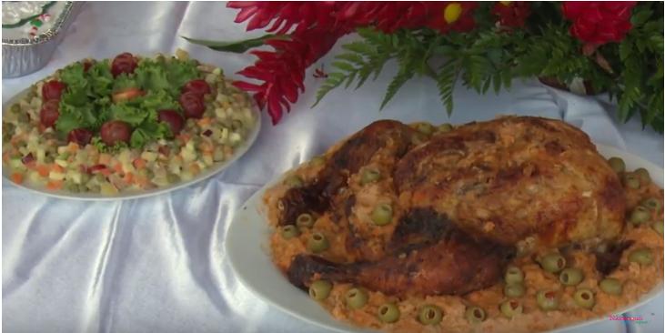 Gallina rellena ganadora del concurso gastronómico , Granada 2017
