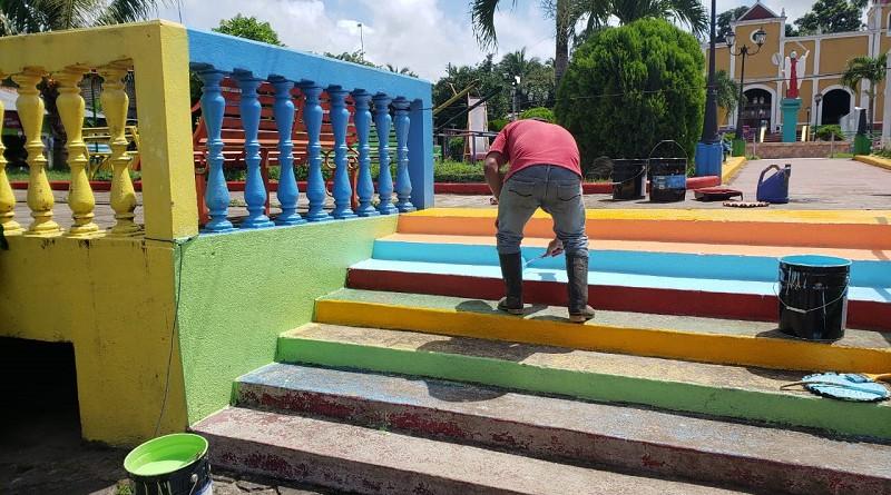 San Miguelito. Obras de mantenimiento de parque