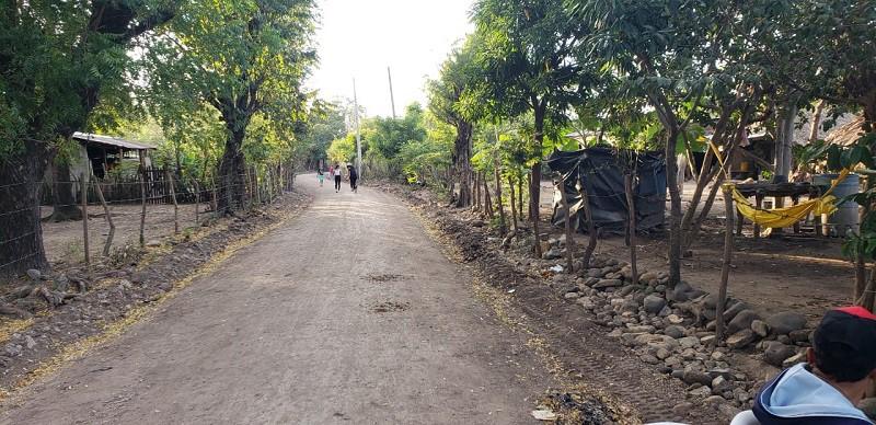 Dos calles se mejoraron en El Jicaral