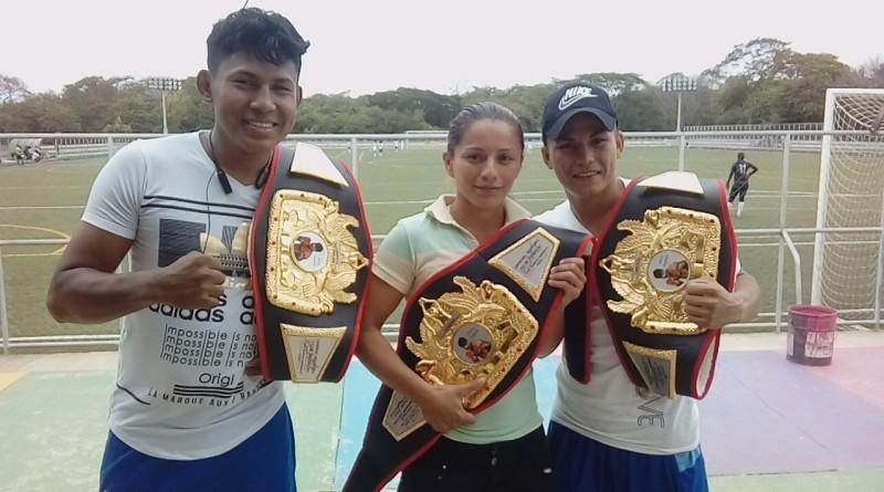 Tres campeones nacionales en boxeo ganó Masaya