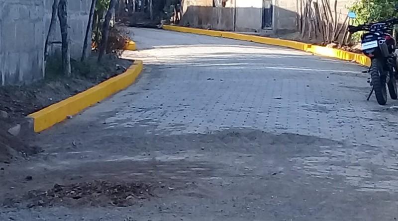 Calle recién finalizada   y próxima a inaugurar en el reparto José Dolores Estrada de Nandaime.