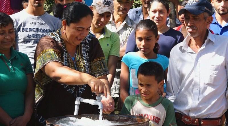 Inauguración de las mejoras en el sistema de agua y saneamiento en la comunidad El Cuje en Somoto