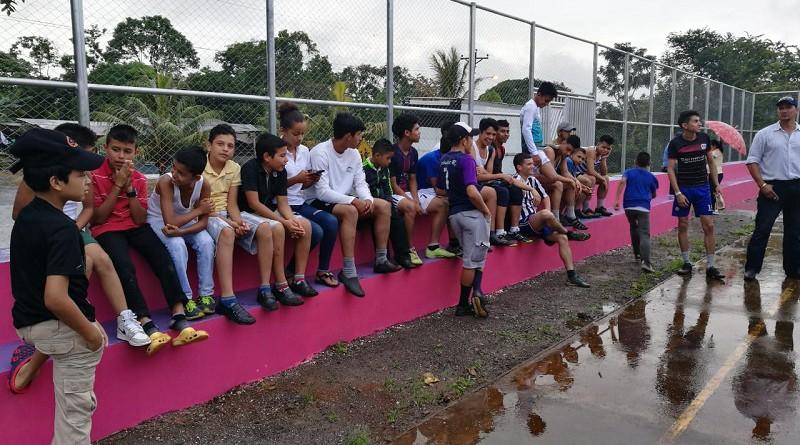 Cancha multuso en la comunidad Muhan Villa Sandino