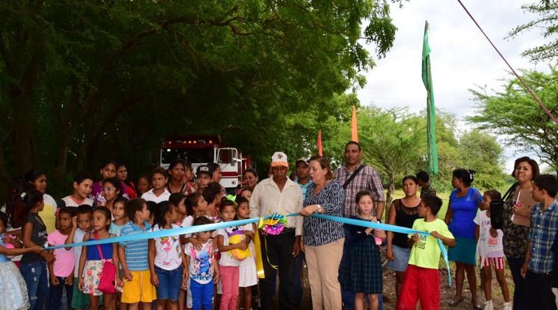 Inauguración  mantenimiento camino comunidad San Gabriel, Nagarote