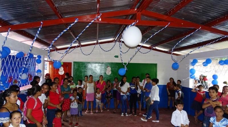 Wiwilí:Inauguración de dos aulas en escuela Luisa Amanda comunidad San Jacinto Arriba