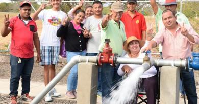 Sistema de agua potable construido en la comunidad Rincón de Los Bueyes en el municipio de La Paz Centro