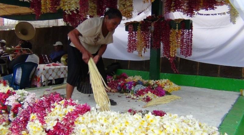 Celebración de la Santa Cruz en sector de La Laguna, (Foto archivo Inifom)