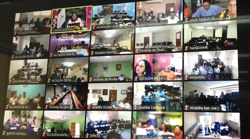 Equipos municipales en video - conferencia