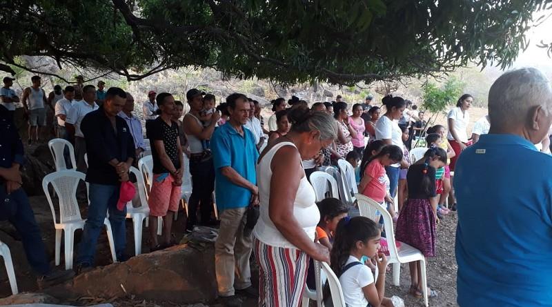 Protagonistas del Programa Nacional Bismark Martínez en el lanzamiento ayer en Santa Rosa del Peñón