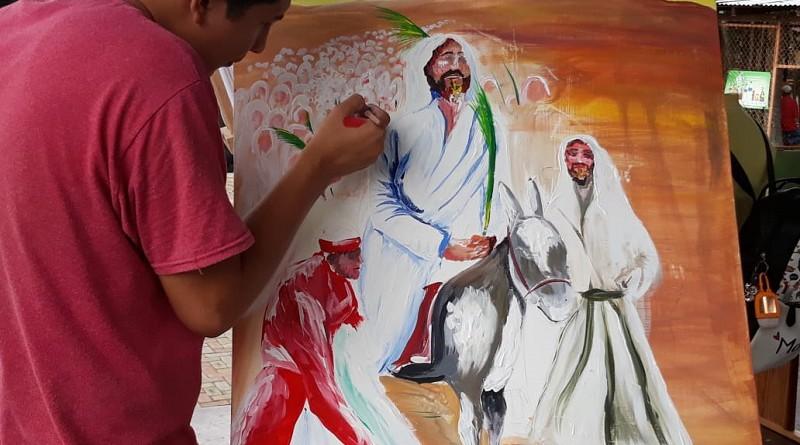 San Ramón en el certamen de pintura convocado por las alcaldías en cada municipio