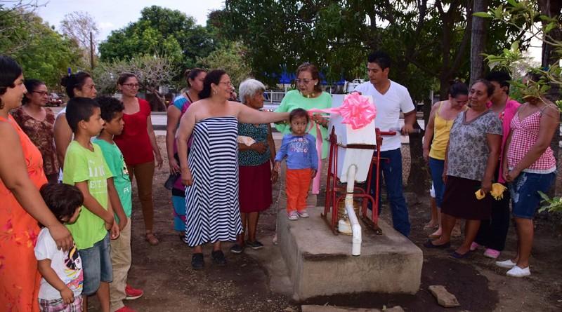 Pozo construido en comunidad Costa Sur en Nagarote