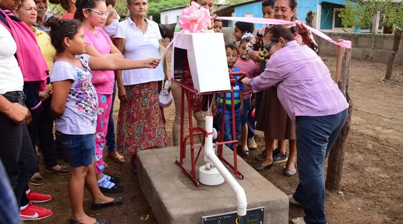 Otro pozo construido en la comunidad Ojo de Agua en Nagarote