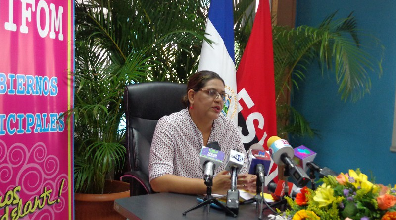 Compañera Guiomar Irías, presidenta ejecutiva de INIFOM