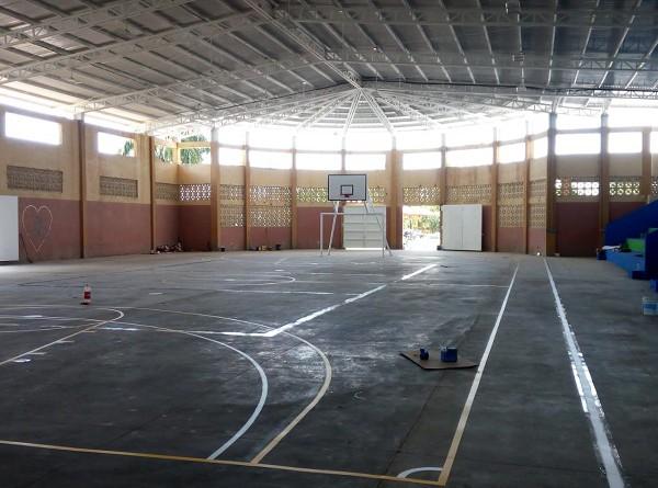 En San Juan de Nicaragua el gobierno local invirtió un millón 760 mil córdobas en la rehabilitación del polideportivo Alexis Arguello en la comunidad Greytown.