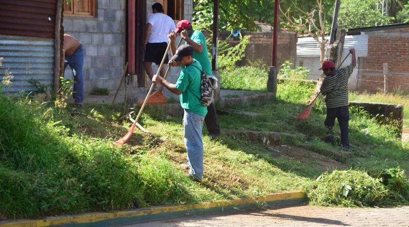 Jornada de limpieza barrio san Martín #1 Nagarote
