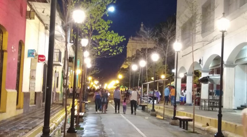 Inauguración reciente de calles en el Centro Histórico de León.Inversión 16 millones 300 mil córdobas