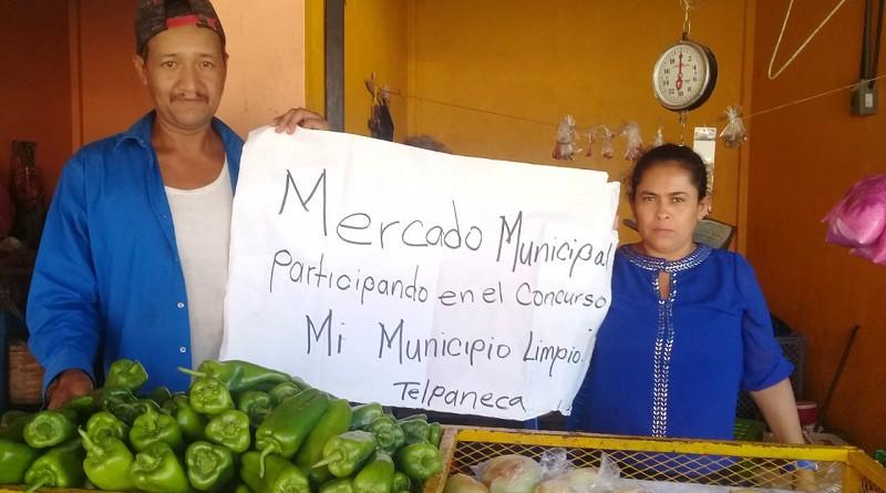 Comerciantes del mercado de Telpaneca involucrados en el concurso El Municipio Más Limpio