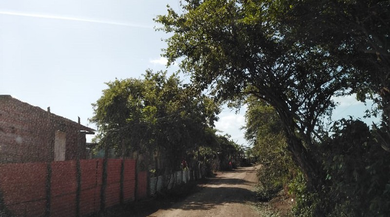 Tipitapa.Camino a la comunidad La Majada