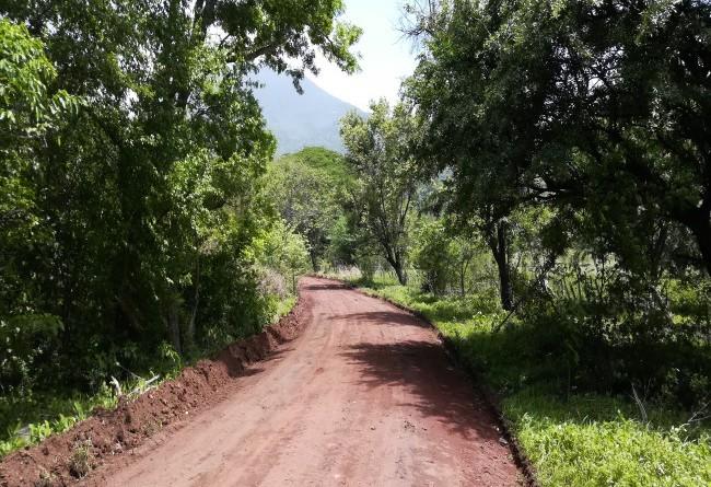 En Casa de Teja, donde se dio mantenimiento y reparó el camino