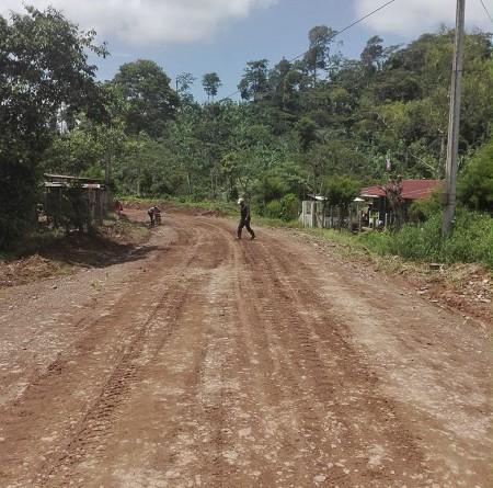 Jinotega. Ttramo de camino El Dorado- Sierra Morena- Paz del Tuma,
