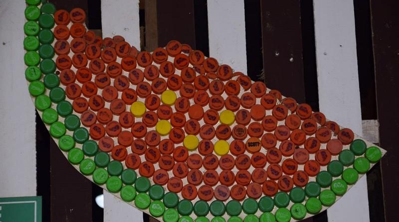 Un adorno de pared echo por mujeres del balneario El tránsito, Nagarote