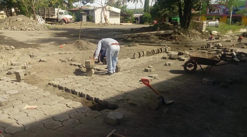 Construcción de drenaje en Tipitapa