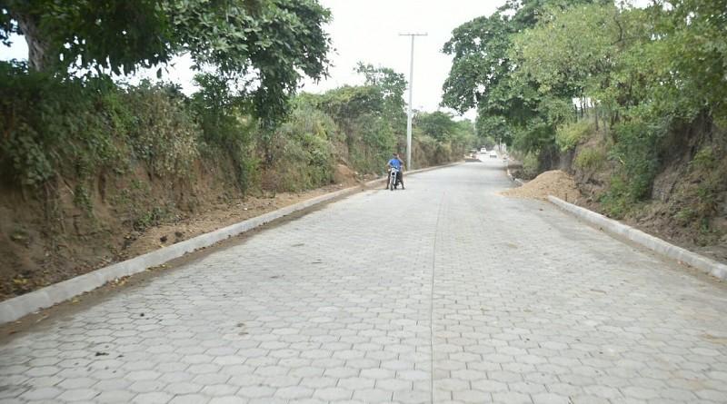 En la comunidad Cuajachillo, Ciudad sandino el gobierno local construyó 600 metros lineales de andenes.La inversión fue de cuatro millones 483 mil 244 córdobas