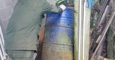 Erradicando criaderos de mosquitos transmisores del dengue, malaria, zica y  chikungunya