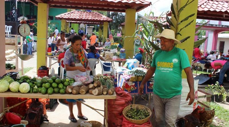 Se promueven además en los mercados las ferias de la economía familiar con precios solidarios de productos de la canasta básica y de cosecha como frijoles, maíz, verduras y frutas. Foto corresponde a San Ramón