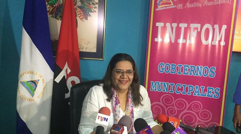 Presidenta Ejecutiva de INIFOM, Guiomar Irías Tórrez