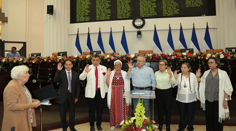 La Junta Directiva de la Asamblea Nacional está integrada por cuatro diputadas y tres diputados