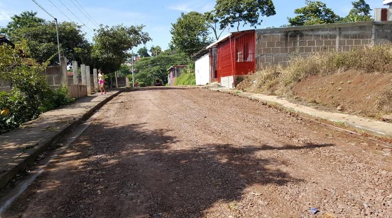 Una de las calles mejoradas en El Tuma-La Dalia