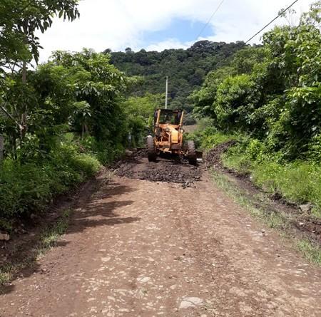 En Matagalpa mejora en ocho kilómetros de camino en la comunidad El Guineo