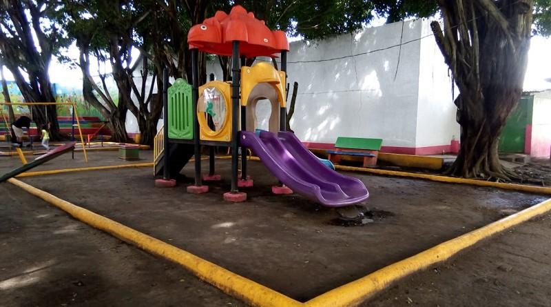Un ambiente del parque Los Chocoyitos en Jinotepe