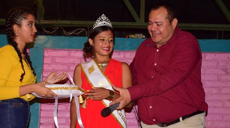 Reina de las fiestas patronales aSan Miguel Arcángel en Puerto Sandino