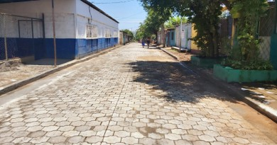 Mateare, calle en El barrio Pedro Joaquín Chamorro