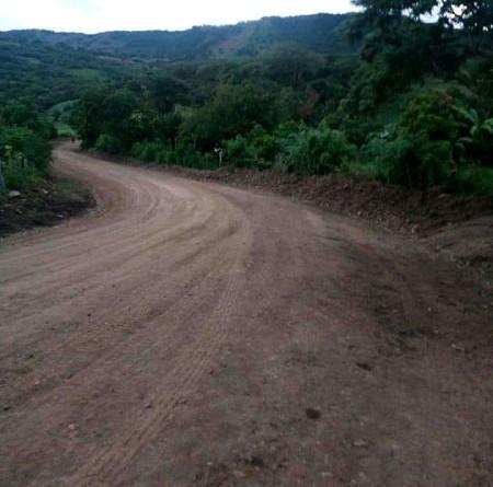 El gobierno local de Jinotega, mejoró 7.5 kilómetros de camino productivos en la comunidad El Chaguiteuctivo mejorado