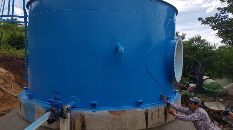 Mini acueducto por bombeo eléctrico construido en la comunidad La Cruz de Apante en Telica con cuatro millones 360 mil córdobas