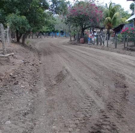 Calle suburbana en Rivas fue sujeta a mantenimiento
