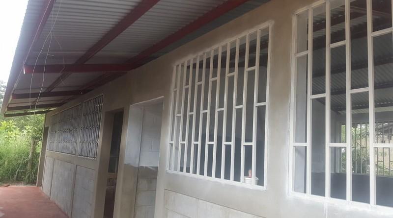 Mejoras efectuadas en el centro escolar de la comunidad Las Delicias en Jalapa