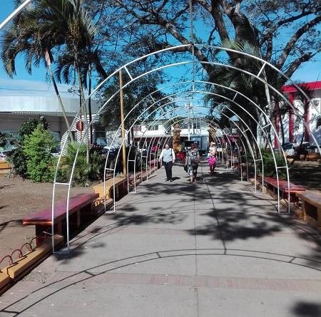 Parque 5 de Julio de Jinotepe fue mejorado