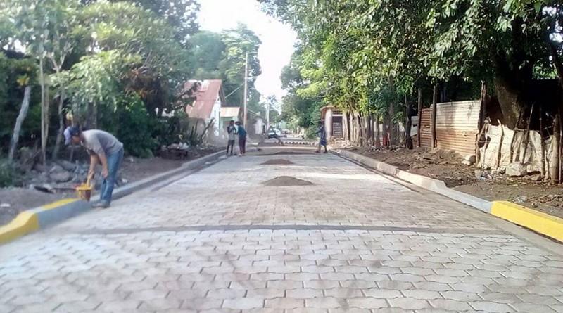 Calle de Puerto Morazán