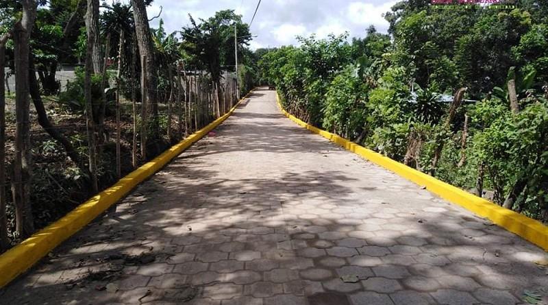 Calle de Masatepe recién construída
