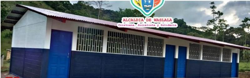 Escuela mejorada en Waslala