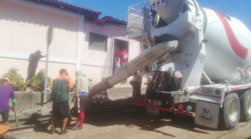 Las familias de La Paz Centro inaugurarán seis calles esta semana