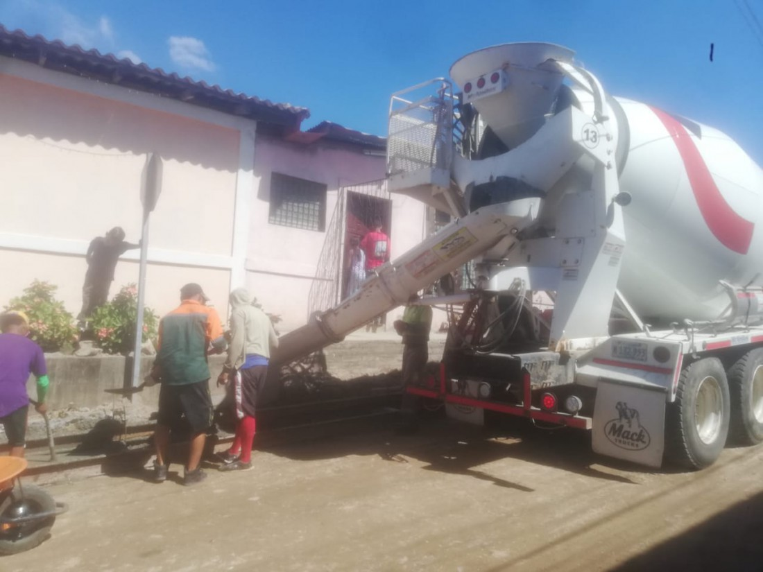 El gobierno local de La Paz Centro y  las familias inaugurará seis calles esta semana