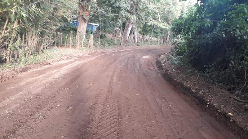 En Diriomo se mejoraron 16 kilómetros de camino en las comunidades Caña de Castilla, La Concepción, El Rodeo, Guapinol, Veracruz, La Escoba y Santa Elena