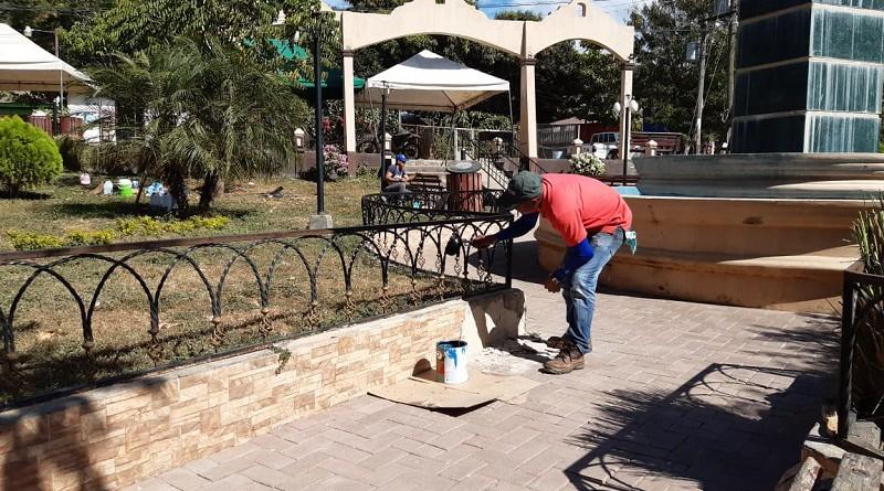 Mantenimiento del parque El Minero en La Mina Limón, Larreynaga-Malpaisillo