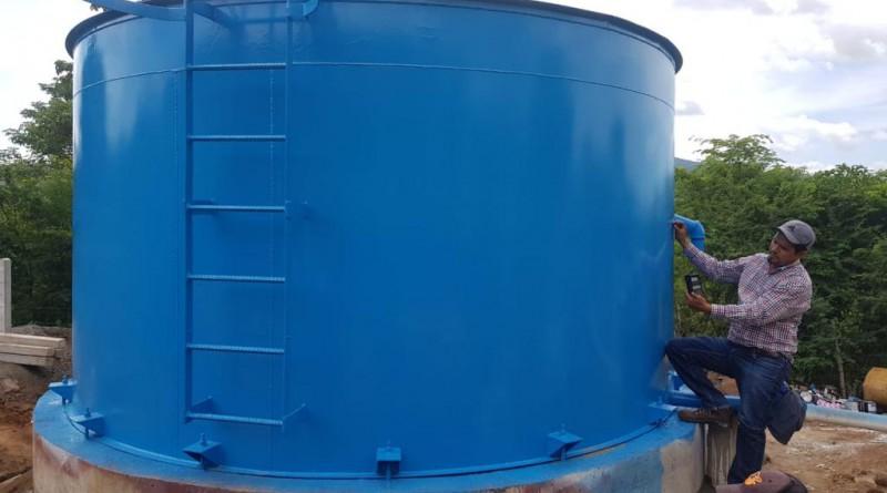Sistenma de agua potable en la comunidad Cruz de Apante en Telica