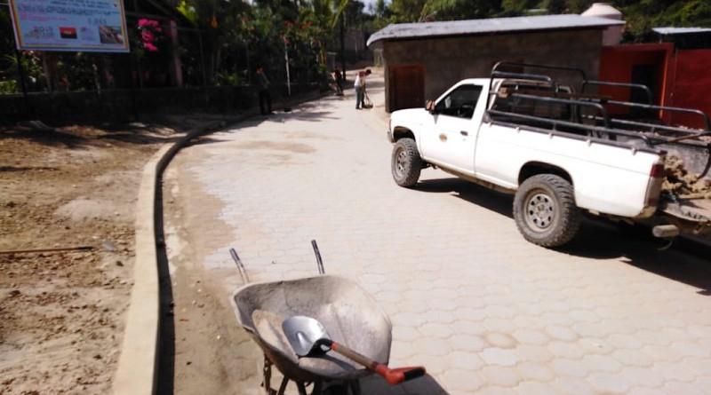 Calle a inaugurar el el barrio Carlos Granados en el municipio de Santa María